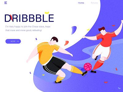 Hello,dribbble dribbble world cup sport ui web design illustration