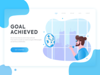 Goal Achieved Hero image - Daily UI #07