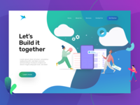 Start Up Landing Page UI - Header Design