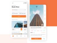 Hotel booking app UI