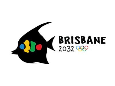2032 Summer Olympics Bid fish australia olympics bid graphic design logo