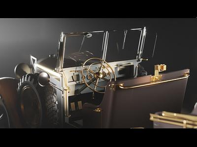 mercedes-benz Stuttgart 260 germany wwii vehicle gamedev 3d 3dsmax 3dmax coronarender cg ww2