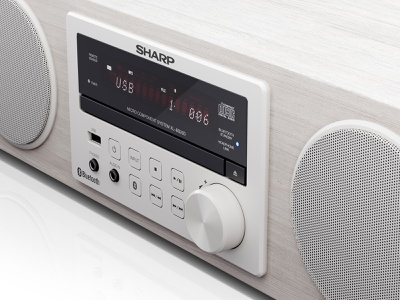 Sharp   Hi-Fi Audio System BB20D   CGI audio system hi-fi studio lighting audio sound products industrial design 3d max 3d coronarender dmitry gusev sharp