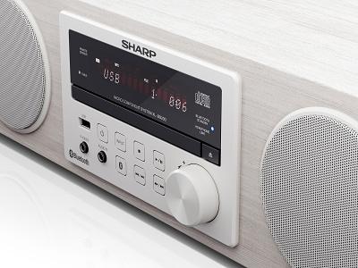 Sharp | Hi-Fi Audio System BB20D | CGI audio system hi-fi studio lighting audio sound products industrial design 3d max 3d coronarender dmitry gusev sharp