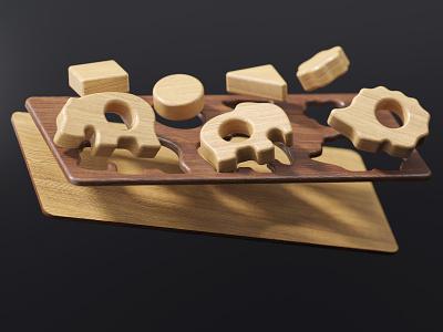 Wood Toys 0+   Full CGI children 0 3d art wood toys wood toys products dmitry gusev coronarender 3d max 3d