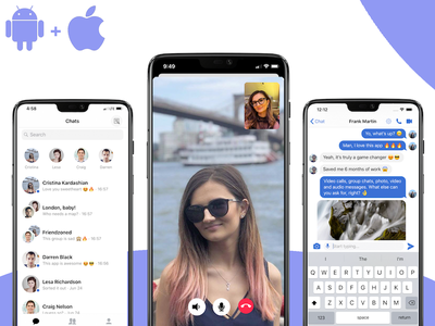iOS + Android Video Conferencing App streaming live videochat video