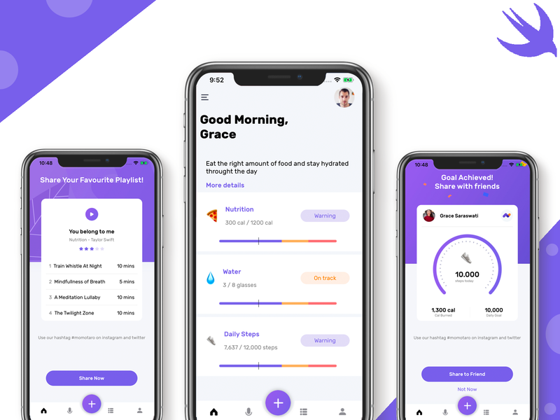 Mobile Fitness UI Kit ios swift swiftui mobile mobile templates workout fitness logo fitness app fitness