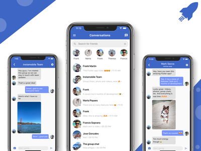Flutter Chat App Template android ios chat flutter