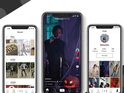 TikTok Clone in React Native social app template mobile app android ios mobile templates mobile app development development mobile design mobile react native music tiktok