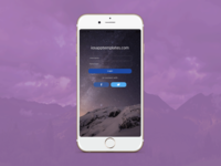 iOS Login Screen Template for iPhone and iPad