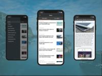 Reuters News Reader iPhone App Template for Wordpress
