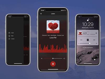 Radio Music Player Ios App Template Swift Xcode template app ios iphone live streaming player music radio