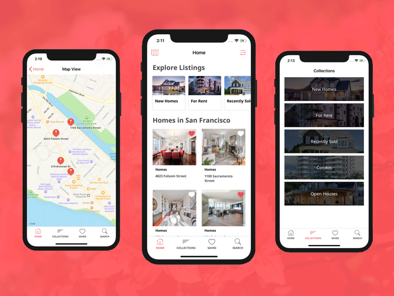 Real Estate Ios App Design By Ios App Templates Dribbble Dribbble