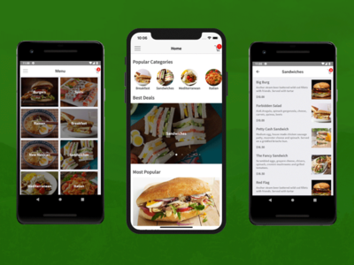 Food Delivery Restaurant App Template