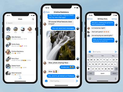 Chat Iphone App Template Firebase Swift photosharing photo-sharing chatting messaging realtime firebase ios-templates ios swift group-chat chat whatsapp messenger