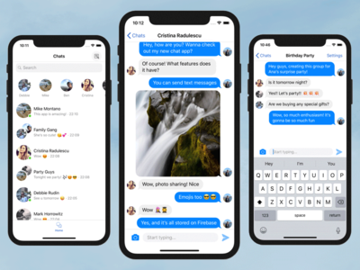 Chat Iphone App Template Firebase Swift