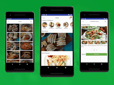 Android Restaurant App Design Template food delivery application food ordering android app mobile templates food delivery app food app android app development android app design restaurant android