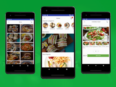 Android Restaurant App Design Template