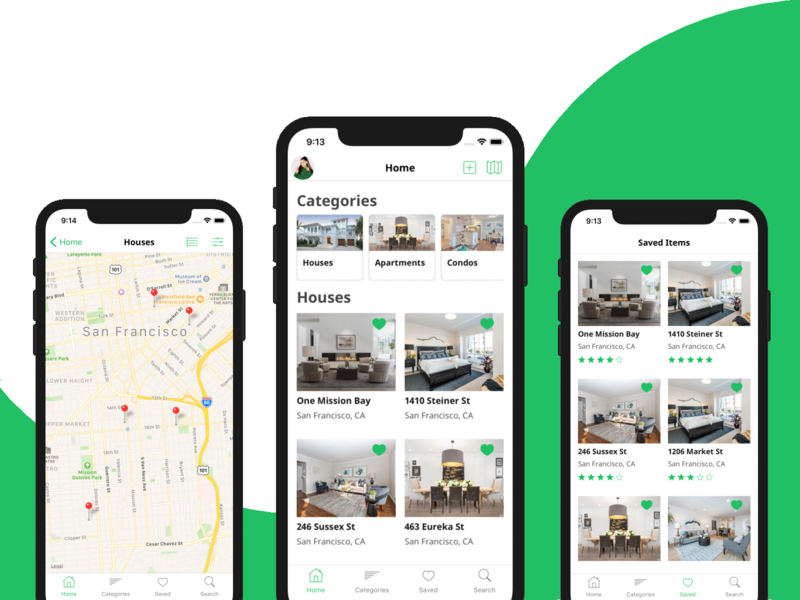 Real Estate App Template in React Native by iOS App Templates on