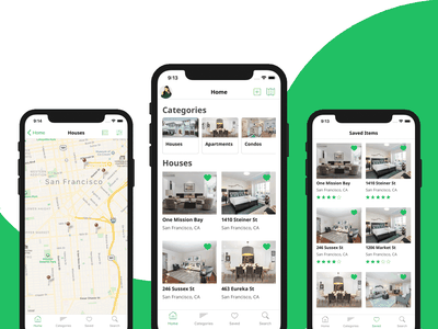 Real Estate App Template in React Native airbnb real estate agency real estate branding ios android app design app template template firebase real estate agent real estate react native mobile templates