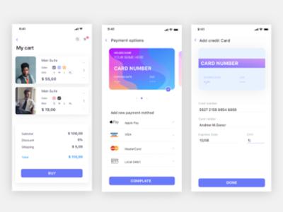 Checkout Flow - E-commerce app payment shopping shopping app checkout form checkout