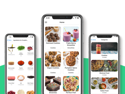 Mobile Food App Template