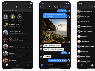 Chat App Dark Mode chatting chat chat app dark theme dark dark app dark ui dark mode
