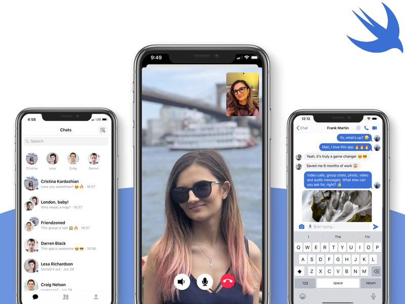 Video App Template snapchat social app app template swift mobile app development mobile templates chat app chat mobile ui mobile video