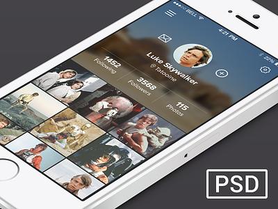 Profile Luke Skywalker ios app iphone psd profile star wars sw clean simple luke c3po yoda