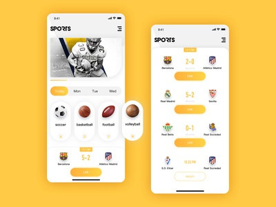 Sports event live application