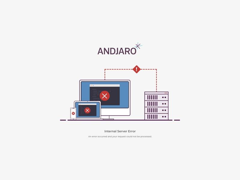 Andjaro - Error 500 sketch error page error 500 error 500 illustration andjaro