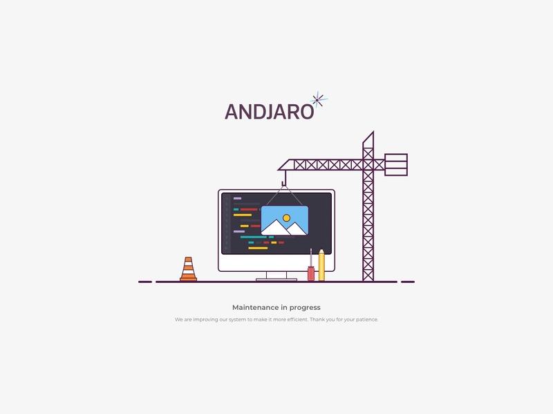 Andjaro - Maintenance sketch maintenance page maintenance illustration andjaro