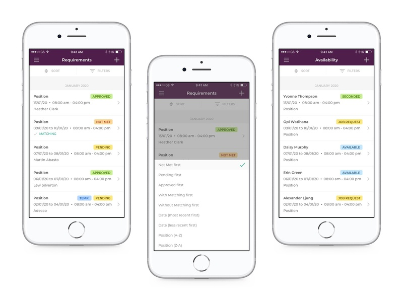 Andjaro - Manager App sketch app sorting list mobile design mobile app mobile ui mobile ui andjaro design
