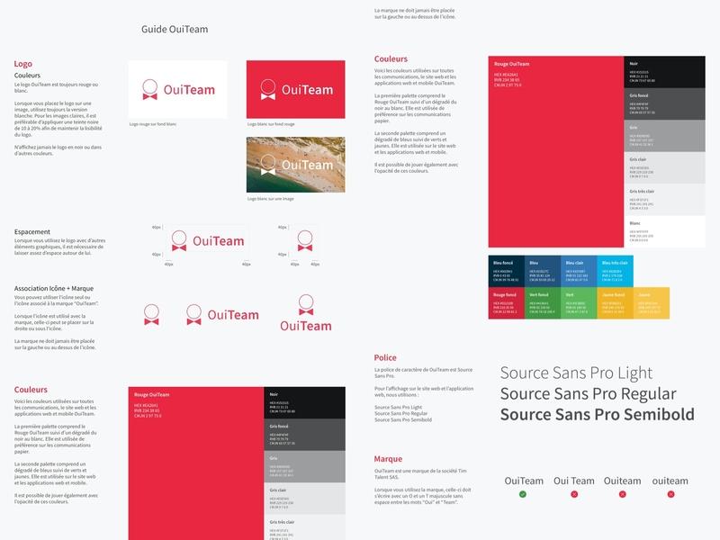 OuiTeam - Style Guide style guide styleguide ouiteam psd photoshop design