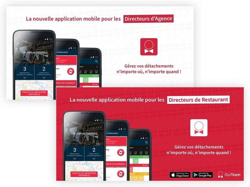 OuiTeam - Mobile App Launch ouiteam psd photoshop design
