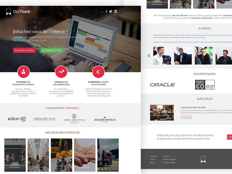 OuiTeam - Home ouiteam website design website corporate website homepage home psd photoshop design