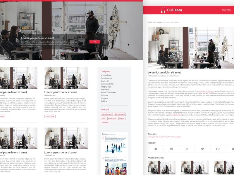 OuiTeam - Blog blog post blog website design website corporate website ouiteam psd photoshop design