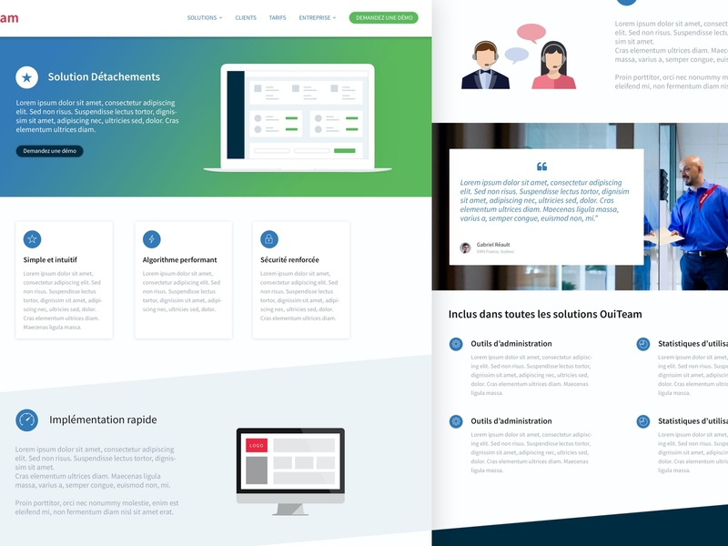 OuiTeam - Solution solution website design website ouiteam psd photoshop design corporate website
