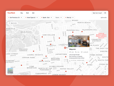 Daily UI 029 - Map home buying website design website map dailyui029 dailyui figma ui design