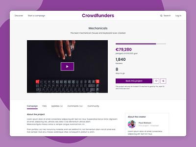 Daily UI 032 - Crowdfunding Campaign crowdfunding campaign crowd funding crowdfunding crowdfund website design website dailyui032 dailyui figma ui design