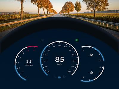 Daily UI 034 - Car Interface car dashboard dashboard car interface car dailyui034 figma dailyui ui design
