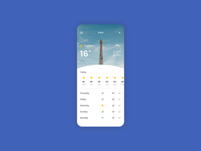 Daily UI 037 - Weather weather forecast weather app weather app mobile ui mobile app mobile design mobile dailyui037 dailyui figma ui design