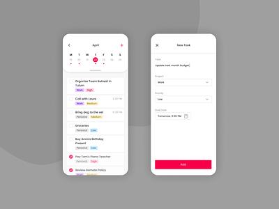 Daily UI 042 - ToDo List to-do app todo app to-do list to-do todo list todo mobile mobile design mobile ui mobile app dailyui042 dailyui figma app ui design