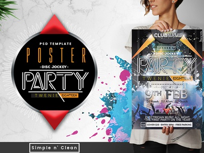 Poster Party Dj