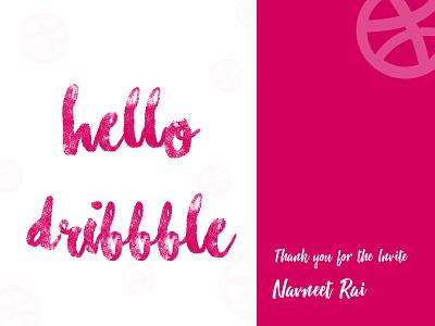 Hello Dribbble typography dribblers ui graphics hello firstshot dribble