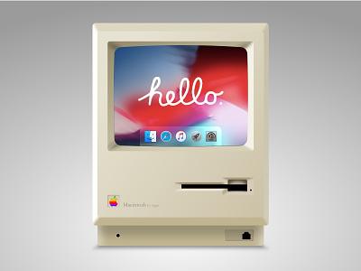 Macintosh - macOS Mojave concept art thinking macinotsh hello dribblers branding illustration mojave apple icon minmaldesign concept dribble