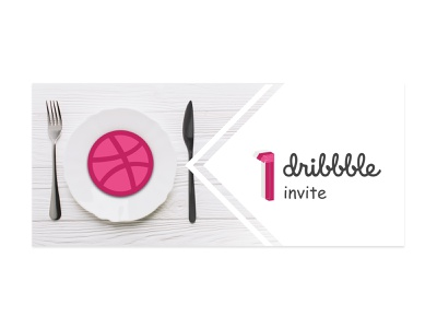 1 Dribble Invite typography minmaldesign dribblers