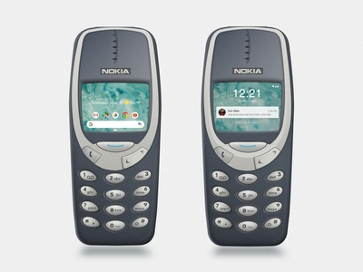 Nokia Andriod Pie Concept on 3310