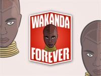 Wakanda Forever Badges 3/3