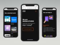 DEZGN STUDIO Mobile Web Shot